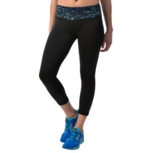 Reebok Remaster Skinny Capris (For Women) in Dazzling Blue - Closeouts