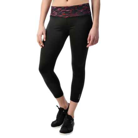 Reebok Remaster Skinny Capris (For Women) in Rose Violet - Closeouts