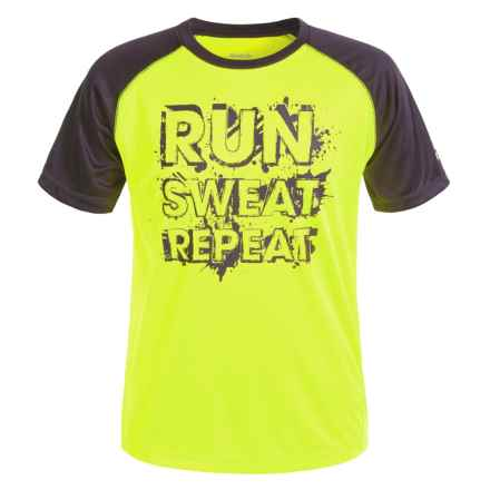 Reebok Repeat T-Shirt - Short Sleeve (For Big Boys) in Safety Yellow - Closeouts