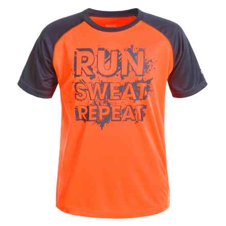 Reebok Repeat T-Shirt - Short Sleeve (For Little Boys) in Shocking Orange - Closeouts