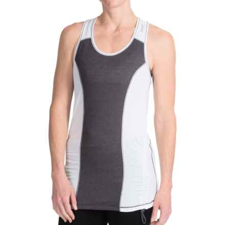 Reebok Ruched Tank Top - Racerback (For Women) in Charcoal Heather - Closeouts