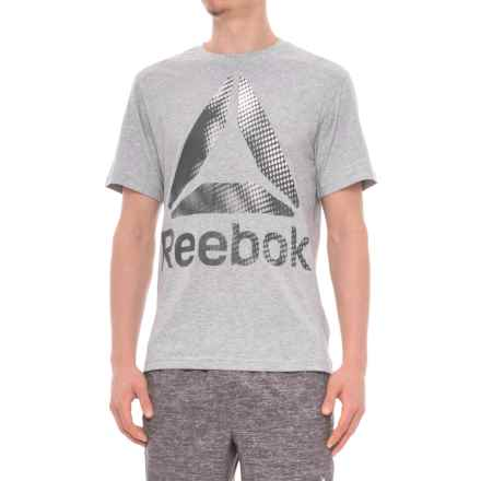 Reebok Scales T-Shirt - Short Sleeve (For Men) in Grey Heather - Closeouts