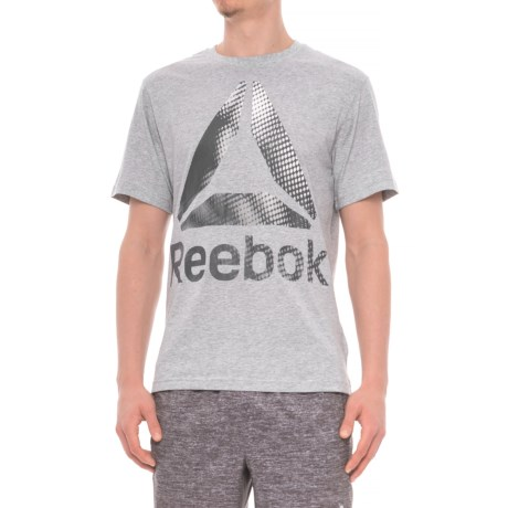 Reebok Scales T-Shirt - Short Sleeve (For Men) in Grey Heather