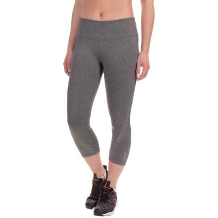 Reebok Sculpt Capris (For Women) in Charcoal Heather Solid - Closeouts