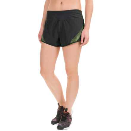 Reebok Sculpt Shorts (For Women) in Black/Sharp Green - Closeouts