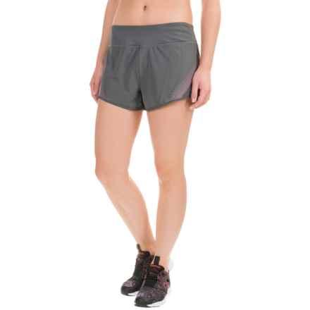 Reebok Sculpt Shorts (For Women) in Medium Grey/Neon Rose - Closeouts