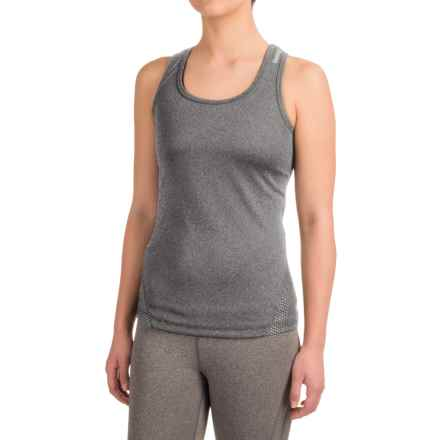 Reebok Sculpt Tank Top - Racerback (For Women) in Charcoal Heather - Closeouts
