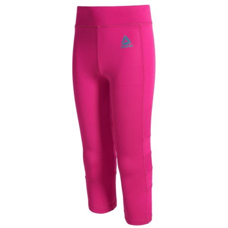 Reebok Show Off Capris (For Big Girls) in Pink Glow
