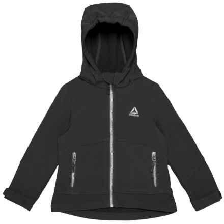 Reebok Soft Shell Jacket (For Little Girls) in Black - Closeouts
