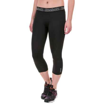 Reebok Solid Spark Capris (For Women) in Black - Closeouts