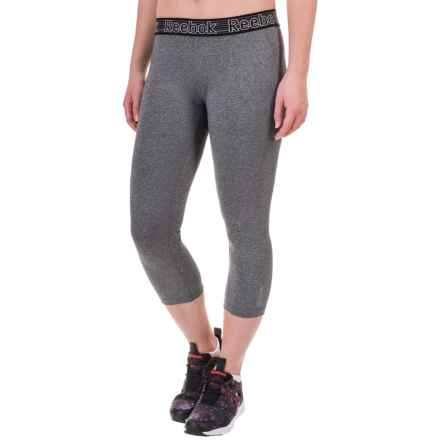 Reebok Solid Spark Capris (For Women) in Charcoal Heather - Closeouts