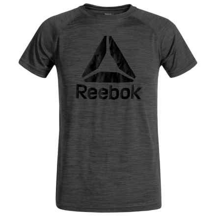 Reebok Space-Dye Active Raglan T-Shirt - Short Sleeve (For Big Boys) in Iron Grey - Closeouts
