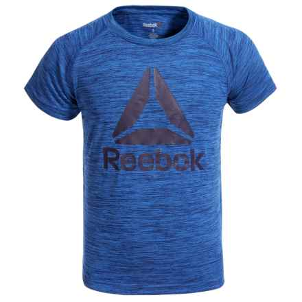 Reebok Space-Dye Active Raglan T-Shirt - Short Sleeve (For Little Boys) in Space Blue - Closeouts