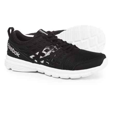 Reebok Speed Rise Running Shoes (For Men) in Black/Matte Silver/White - Closeouts