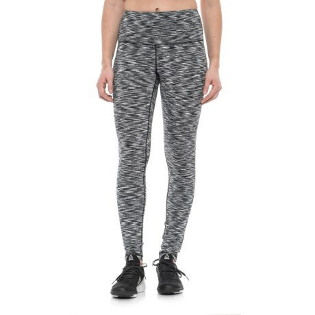 Reebok Spirit Leggings - High Rise (For Women) in Black