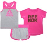 Reebok Split Shine Shirt, Tank and Shorts Set - 3-Piece (For Toddler Girls)