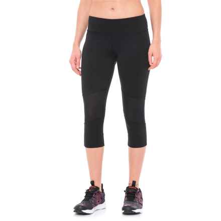 Reebok Sport Essentials Capris (For Women) in Black - Closeouts