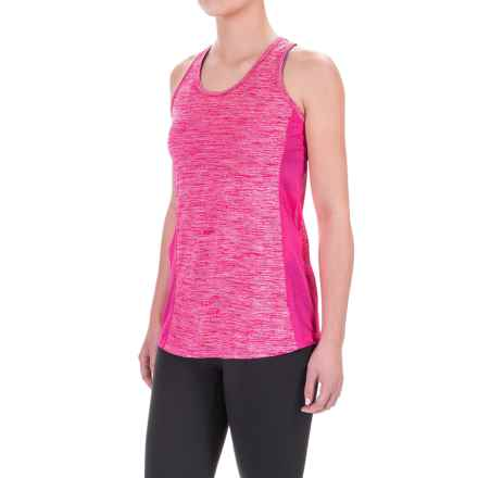 Reebok Spring Singlet Shirt - Racerback, Sleeveless (For Women) in Cabaret Heather - Closeouts