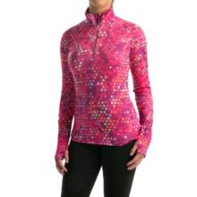 Reebok Stratum Dots Shirt - Zip Neck, Long Sleeve (For Women) in Purple Wine - Closeouts