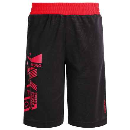 Reebok Strength Shorts (For Big Boys) in Black - Closeouts