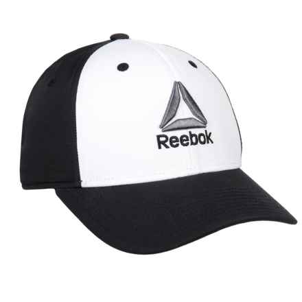 2a1ee109f51 Reebok Structured Stretch Colorblock Cap (For Men) in Black White -  Closeouts