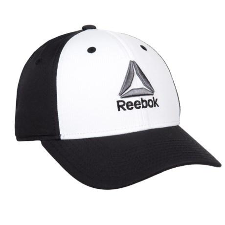 Reebok Structured Stretch Colorblock Cap (For Men) in Black/White