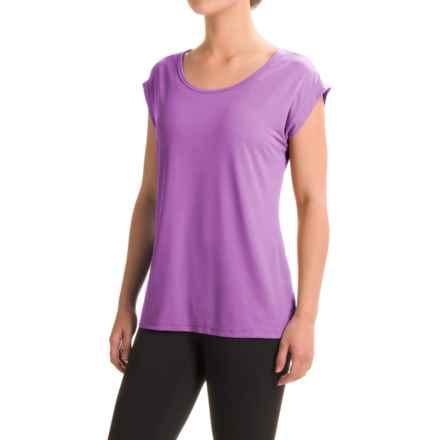 Reebok Studio Shirt - Short Sleeve (For Women) in Iris Orchid - Closeouts