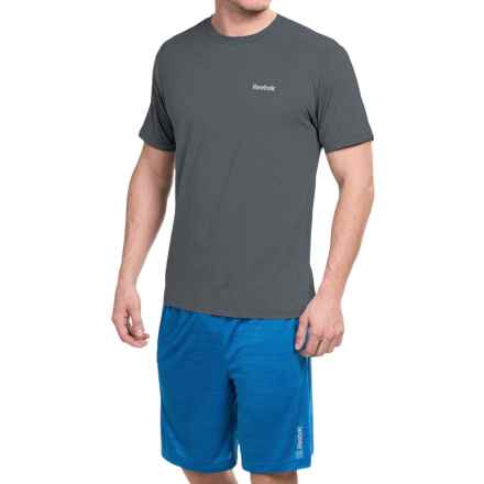 Reebok Super Sonic 2.0 Shirt - Short Sleeve (For Men) in Black Heather - Closeouts