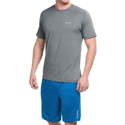 Reebok Super Sonic 2.0 Shirt - Short Sleeve (For Men) in Charcoal Heather - Closeouts