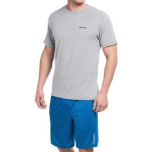 Reebok Super Sonic 2.0 Shirt - Short Sleeve (For Men) in Grey Heather - Closeouts