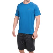 Reebok Super Sonic 2.0 Shirt - Short Sleeve (For Men) in Supreme Blue Heather - Closeouts