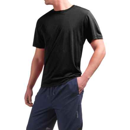 Reebok Super Sonic Shirt - Short Sleeve (For Men) in Black Heather - Closeouts