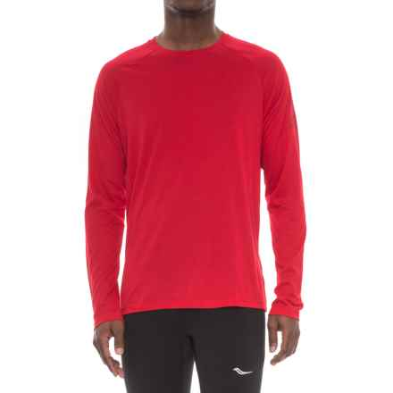 Reebok Supremium T-Shirt - Long Sleeve (For Men) in Red - Closeouts