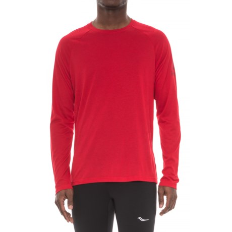 Reebok Supremium T-Shirt - Long Sleeve (For Men) in Red