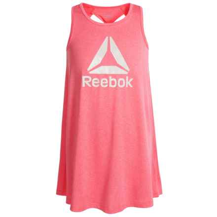 Reebok Swing Dress - Sleeveless (For Big Girls) in Coral Heather - Closeouts