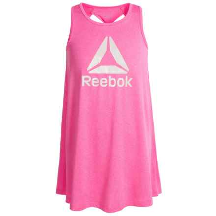 Reebok Swing Dress - Sleeveless (For Big Girls) in Heather Pink - Closeouts