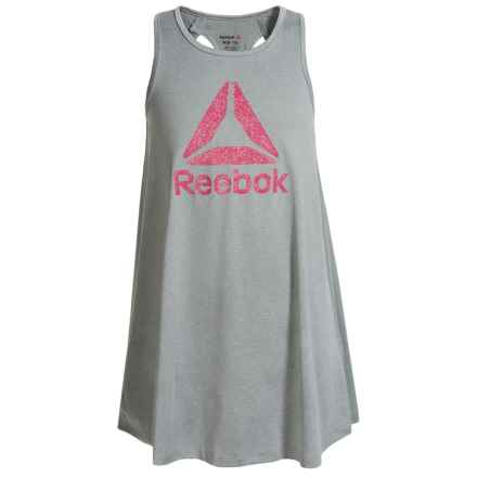 Reebok Swing Dress - Sleeveless (For Big Girls) in Light Grey Heather - Closeouts