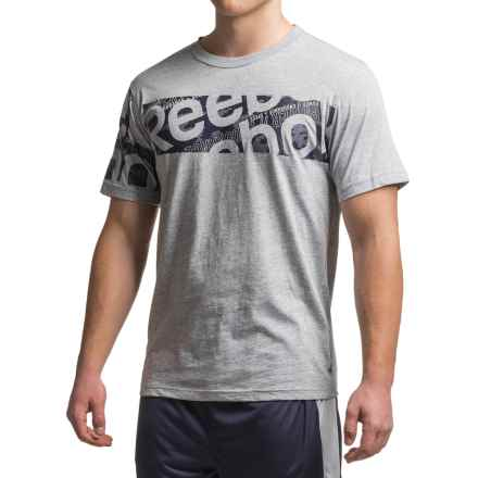 Reebok Tech T-Shirt - Short Sleeve (For Men) in Grey Heather - Closeouts