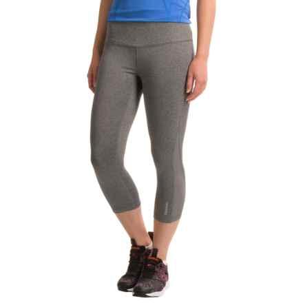 Reebok Tempo Capri Leggings (For Women) in Charcoal Heather - Closeouts