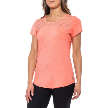 1c1a4dc68df7 Reebok Tempo Shirt - Short Sleeve (For Women) in Coral Flare. Tap to expand