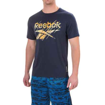 Reebok The Fades T-Shirt - Short Sleeve (For Men) in Navy - Closeouts