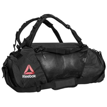 Reebok UFC Convertible Grip Duffel Bag in Black/Black - Closeouts