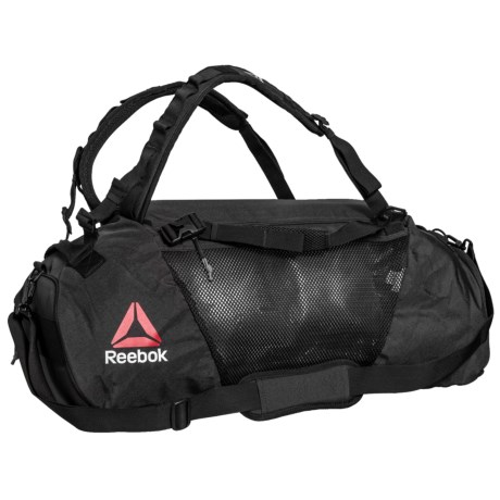 Reebok UFC Convertible Grip Duffel Bag in Black/Black