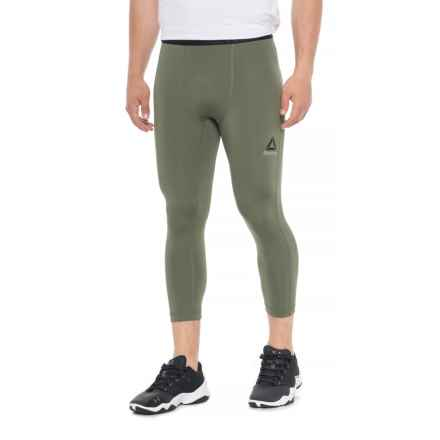Reebok US 3/4 Solid Briefs Tights (For Men) in Hunter Green - Closeouts