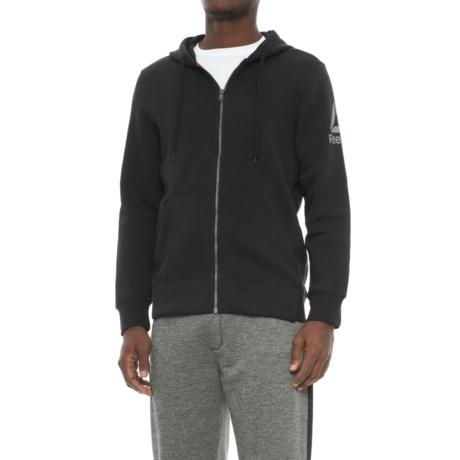 Reebok Us Stacked Hoodie - Full Zip (For Men) in Black