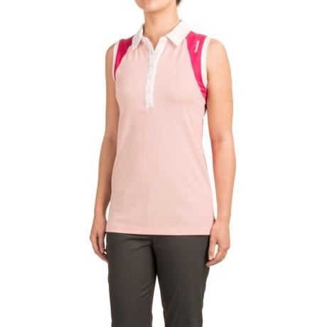 Reebok Vernal Polo Shirt - Sleeveless (For Women) in Crystal Rose Heather