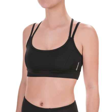 Reebok Victor Strappy Sports Bra - Medium Impact, Removable Cups (For Women) in Black - Closeouts