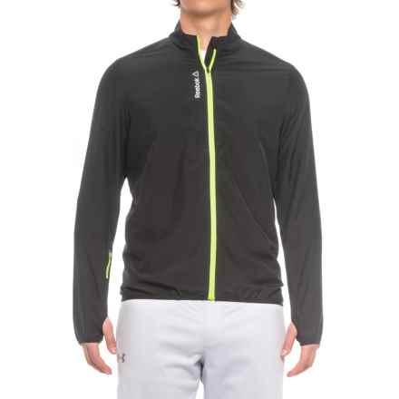 Reebok Woven Running Jacket (For Men) in Black - Closeouts