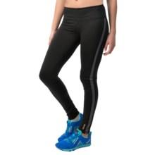 Reebok Zoom Leggings (For Women) in Black/Dim Grey - Closeouts