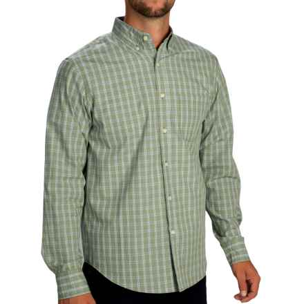 Reed Edward Check Shirt - Button-Down Collar, Long Sleeve (For Men) in Light Green - Closeouts